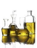 Latas del aceite de oliva Fotografía de archivo