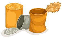 Latas del alimento ilustración del vector