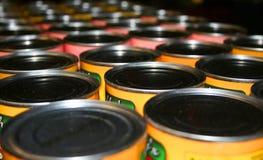 Latas del alimento Foto de archivo libre de regalías