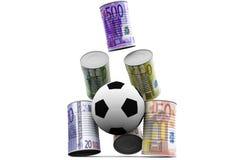 Latas del dinero del lanzamiento Fotografía de archivo