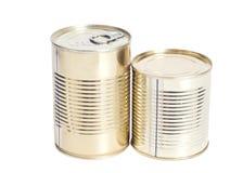 Latas del metal sellado Imagen de archivo libre de regalías