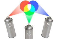Latas del RGB Fotos de archivo libres de regalías