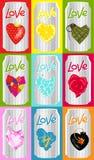 latas do amor Imagem de Stock