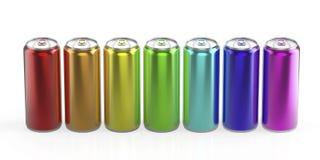 Latas do arco-íris Imagens de Stock