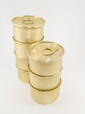 Latas do ouro Imagem de Stock Royalty Free