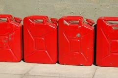 Latas estropeadas del combustible Fotos de archivo libres de regalías