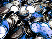 Latas recicladas Fotografía de archivo libre de regalías