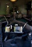 Latas viejas del aceite Foto de archivo libre de regalías