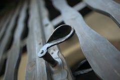 Latch. Detail of beautiful metal latch Royalty Free Stock Image