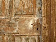 Latch. Old fashioned latch on stable door stock images