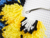 Latch Hook Rug stitch Stock Image