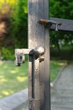 Latch in a iron gate Royalty Free Stock Photos