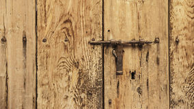 Latch and keyhole Royalty Free Stock Photography