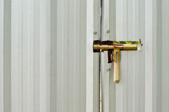 Latch on a metal door Royalty Free Stock Photography