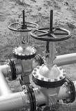 Latch on oil pipeline Stock Photo
