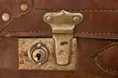 Latch of old suitcase Royalty Free Stock Photos