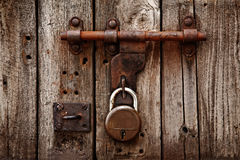 Latch with padlock Royalty Free Stock Image