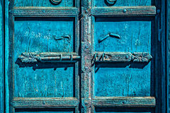 Latch with padlock on door in India Royalty Free Stock Photos