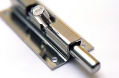 Latch on a white background Royalty Free Stock Photo