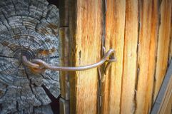 Latch Wooden Door  Stock Photo