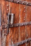 Latched Door at Amer Palace, Jaipur. Close up of door safety with iron bands and latch at Amer Palace, Jaipur, Rajasthan, India, Asia stock photos