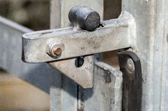 Latches on public gates Royalty Free Stock Images