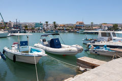 LATCHI, CYPRUS/GREECE - JULY 23 : Assortment of boats in the har Royalty Free Stock Image