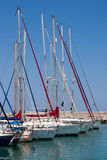 LATCHI, CYPRUS/GREECE - JULY 23 : Assortment of yachts in the ma Royalty Free Stock Image