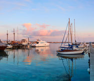 Latchi harbour in Cyprus early in the evening Stock Image