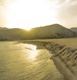 Late afternoon. Is a sunset on a beach in Almeria Royalty Free Stock Photos