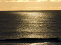 Late afternoon. Sunlight on a calm ocean Stock Images
