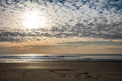 Late afternoon on the beach Royalty Free Stock Photos