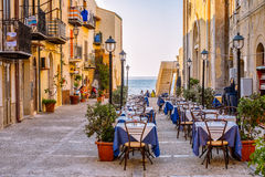 Late afternoon in Cefalù, Sicily Royalty Free Stock Photography