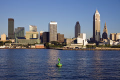 Late afternoon in downtown Cleveland. Ohio stock images