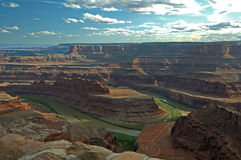 Late afternoon at Horseshoe Canyon Stock Photo