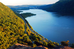 Late Afternoon on the Hudson. A view of the Hudson River from Breakneck Ridge royalty free stock photo
