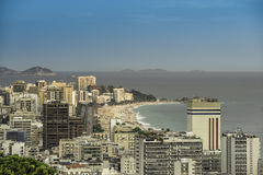 Late afternoon on Ipanema Beach in Rio de Janeiro Stock Images