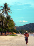 Late Afternoon Jogging. Langkawi Beach.. Late Afternoon Jogging stock photos