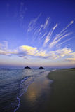 Late afternoon on lanikai beach Stock Photo