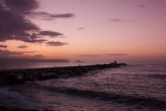 Ocaso. Late afternoon in San Juan Beach Royalty Free Stock Images