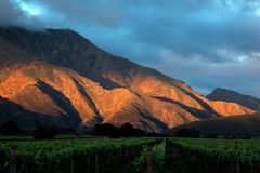 Scenic mountain landscape - South Africa stock images
