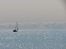 Surreal Sailboat Royalty Free Stock Images