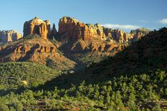 Cathedral Rock near Sedona, Arizona stock photography