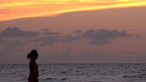 Late afternoon sunset in Caribbean or tropical beach Cuba. Beautiful sunset in a Cuban blue water beach in Santa Maria keys north of Santa Clara. Colorful images stock video footage