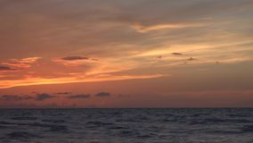 Late afternoon sunset in Caribbean or tropical beach Cuba stock footage