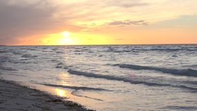 Late afternoon sunset in Caribbean or tropical beach Cuba