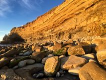 Late Afternoon at Sunset cliffs natural park Stock Photography