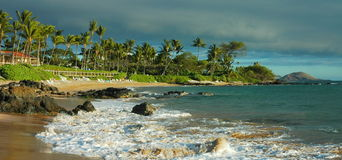 Late Afternoon Surf, Maui Stock Photo