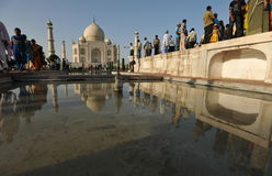 Late afternoon in Taj Mahal. The mausoleum of Taj Mahal before sunset Royalty Free Stock Image