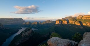 Late afternoon view of the Blyde River Canyon on the Panorama Route, Mpumalanga, South Africa royalty free stock images